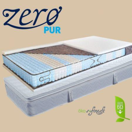 San Remo 9 zónás táskarugós matrac Latex-Kókusz topperrel ajándék matracvédővel
