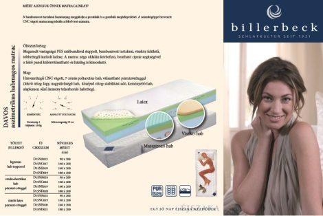 Billerbeck Davos viszkoelasztikus párnázóval ajándék matracvédővel