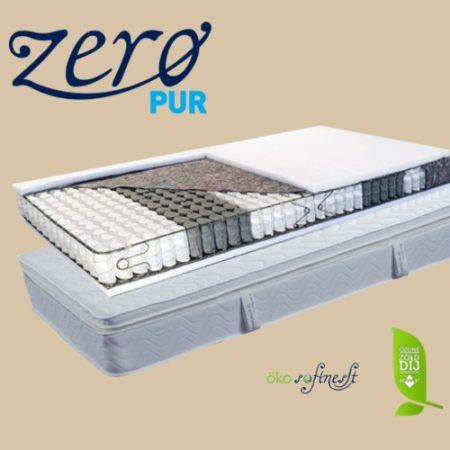 Abbazia táskarugós matrac kókusz-latex topperrel ajándék matracvédővel